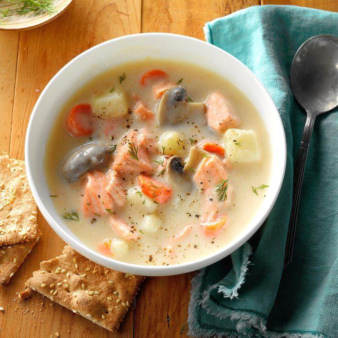 Salmon Dill Soup