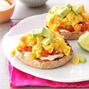 Salsa & Scrambled Egg Sandwiches