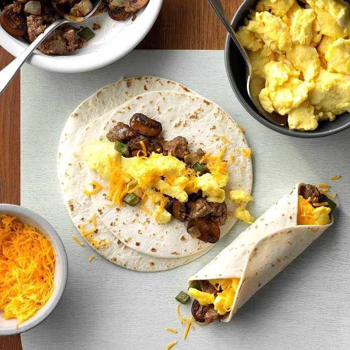 Sausage Breakfast Burritos