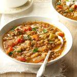 Turkey Sausage and Lentil Soup