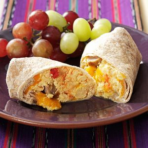 Sausage & Salsa Breakfast Burritos