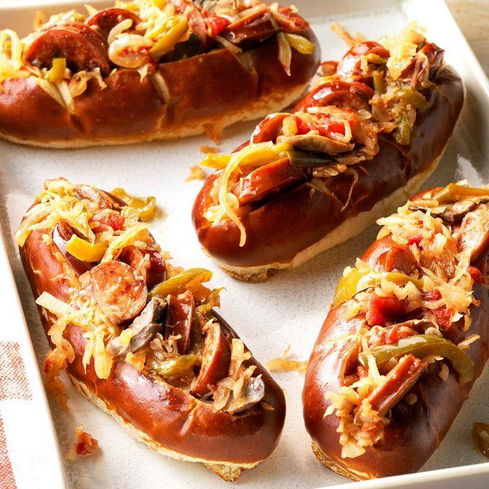 July 24: Sausage and Kraut Buns