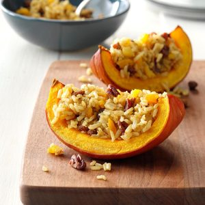Scented Rice in Baked Pumpkin