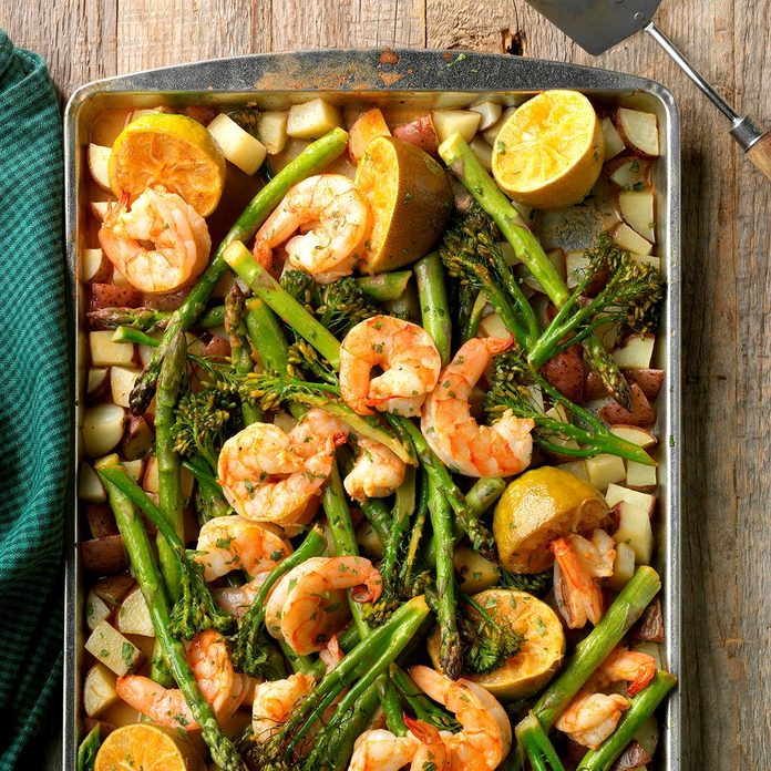 Day 12: Sheet Pan Chipotle Lime Shrimp Bake