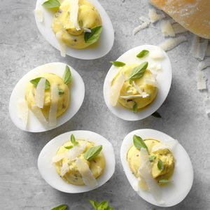 Slim Italian Deviled Eggs