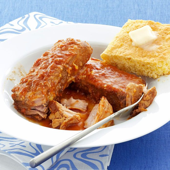 Slow Cooked BBQ Pork Ribs