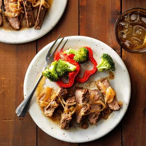 Slow-Cooked Flank Steak