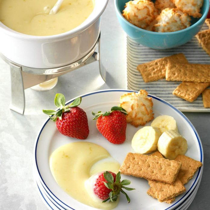 Slow-Cooker Key Lime Fondue