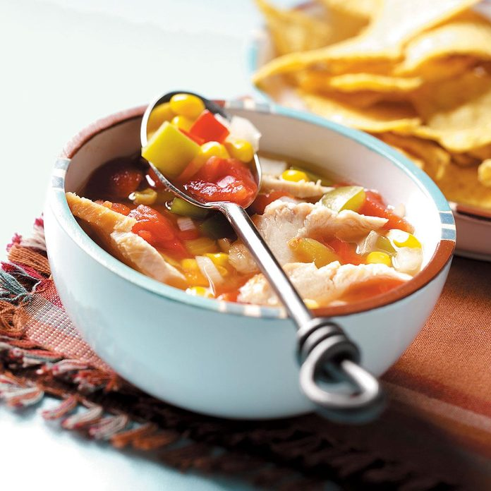 Day 9: Slow Cooker Southwestern Chicken Soup