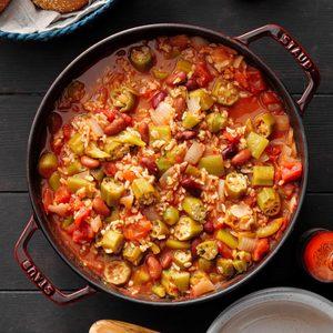 Southern Okra Bean Stew