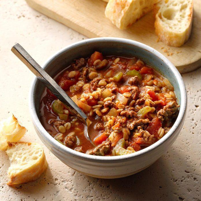 Southwestern Beef Barley Stew