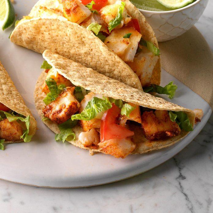 Southwestern fish tacos