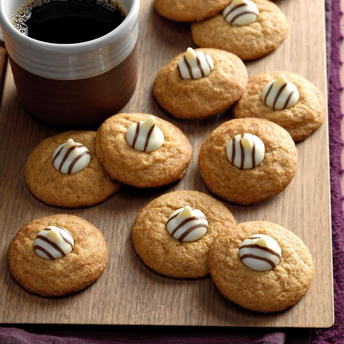 Spiced Cappuccino Kiss Cookies