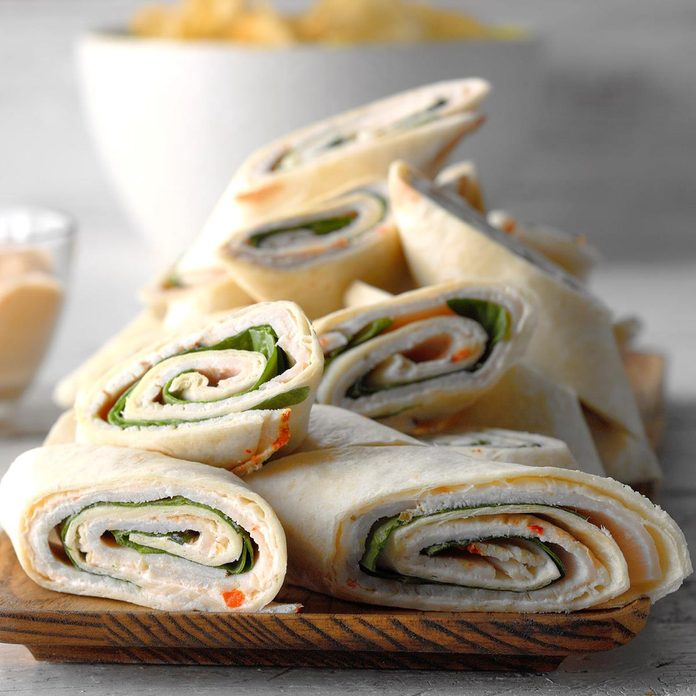 Spinach and Turkey Pinwheels
