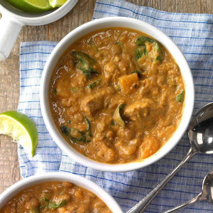 Squash and Lentil Lamb Stew