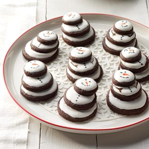 Stacked Snowman Cookies