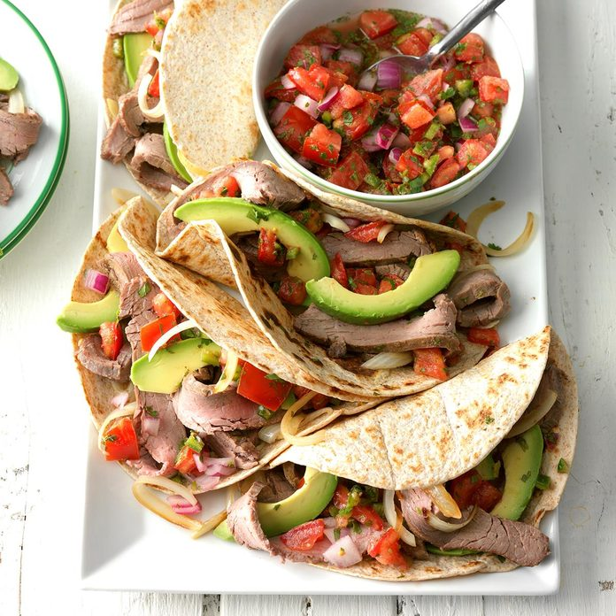 Inspired by: Chipotle's Steak Tacos with Fajita Vegetables