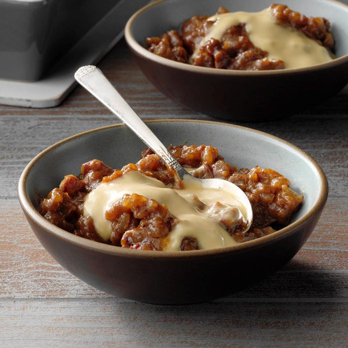 North Carolina: Sticky Toffee Rice Pudding with Caramel Cream