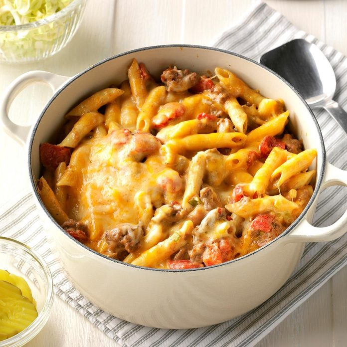 January: Stovetop Cheeseburger Pasta