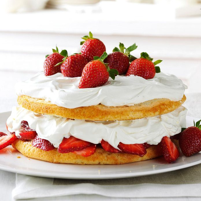 Strawberries & Cream Torte