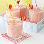 Strawberry-Peach Milk Shakes