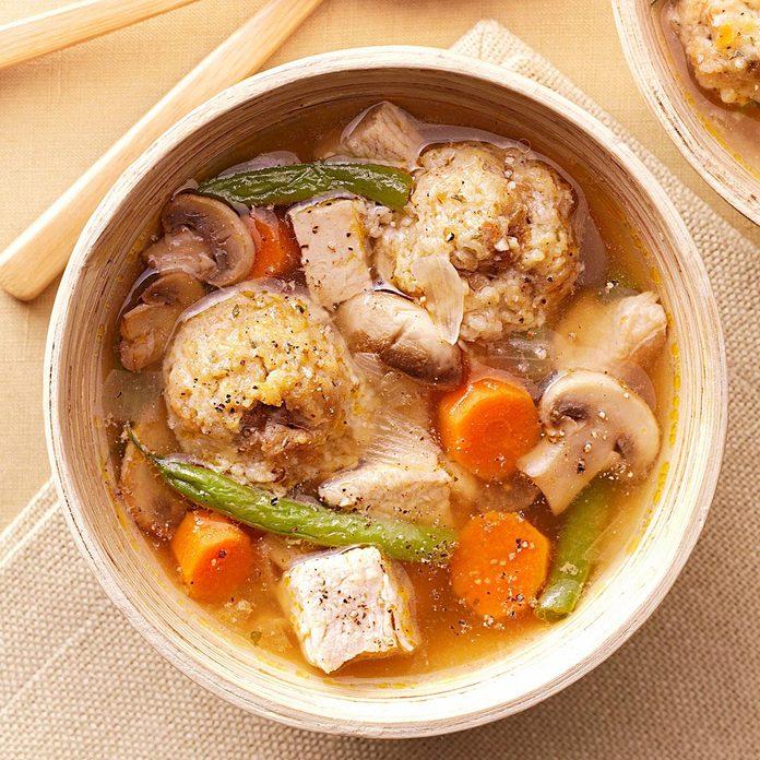 Stuffing Dumpling Soup