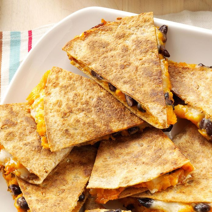 January: Sweet Potato & Bean Quesadillas