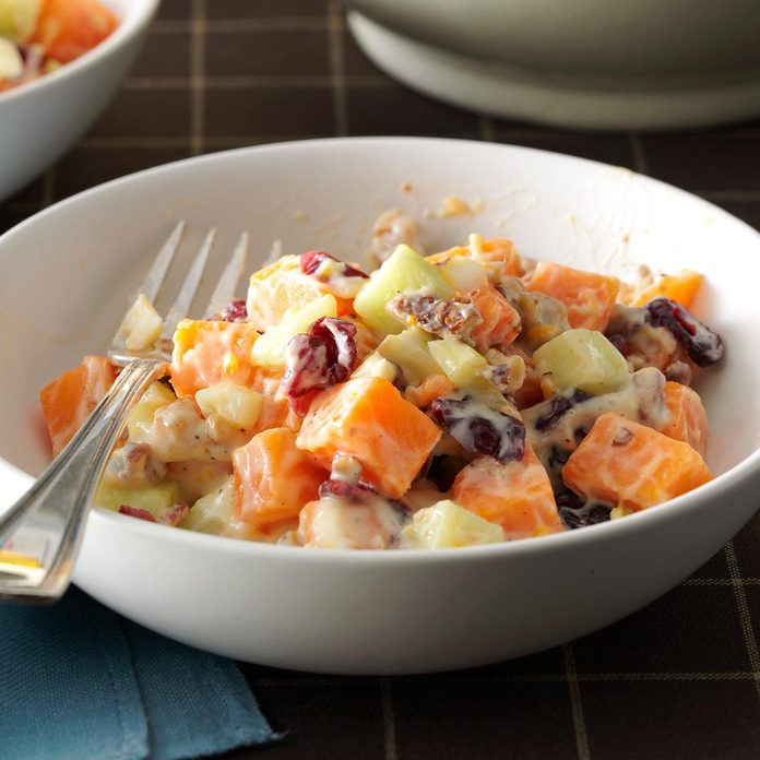 Sweet Potato Salad with Orange Dressing
