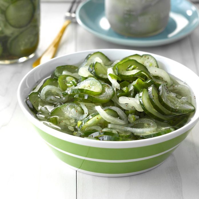 Sweet 'n' Tangy Freezer Pickles