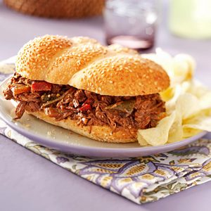 Tex-Mex Beef Sandwiches