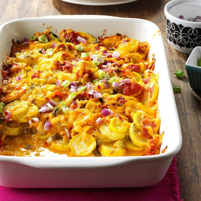 Day 30: Tex-Mex Summer Squash Casserole