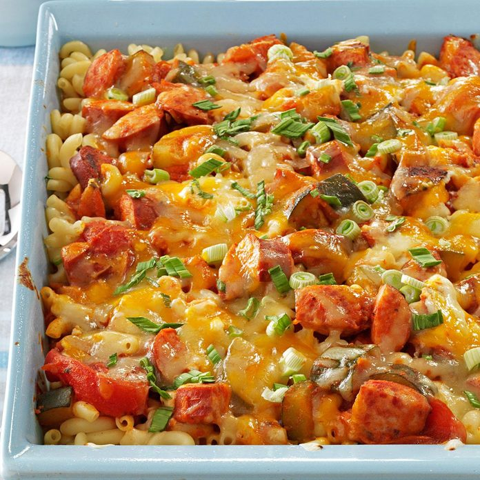 Three-Cheese Kielbasa Bake