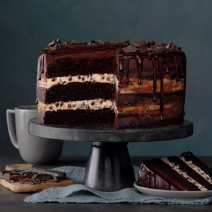 Three-Layer Chocolate Ganache Cake