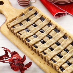 Triple Berry Linzer Tart