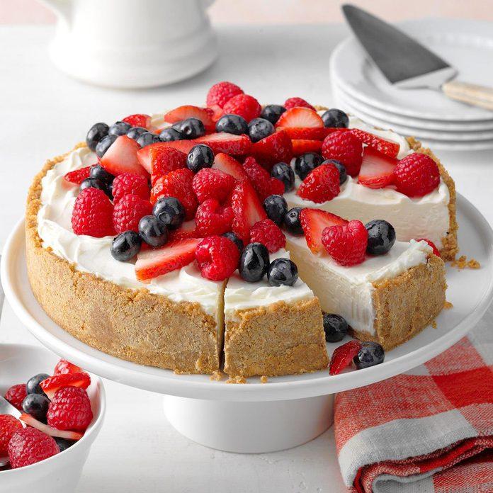 Triple Berry No-Bake Cheesecake