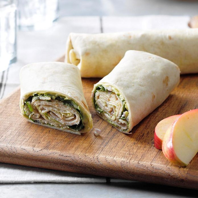 Turkey Guacamole Wraps