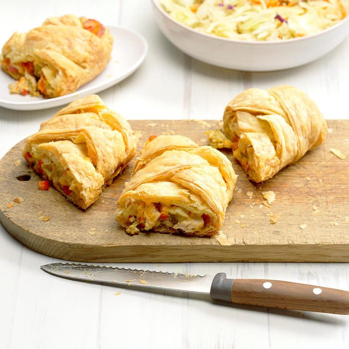 Turkey and Broccoli Pastry Braid