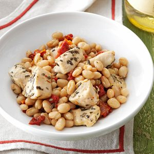 Tuscan Chicken and Beans