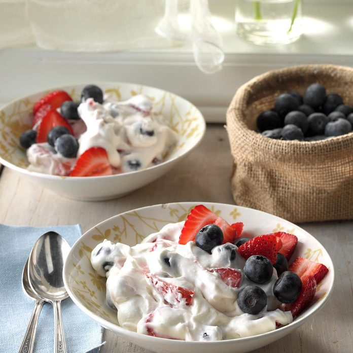 Two-Berry Fluff Salad