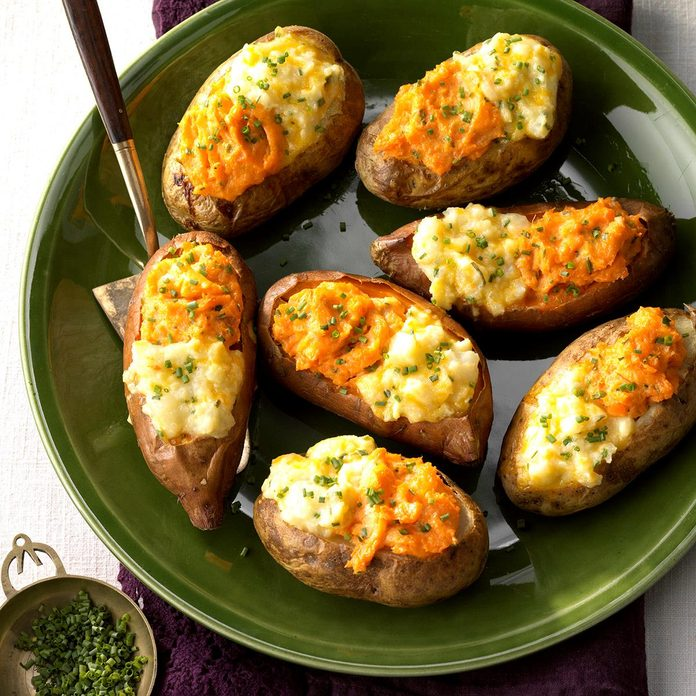 Two-Tone Baked Potatoes
