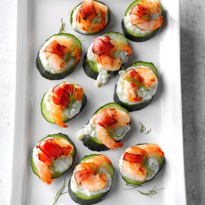 Tzatziki Shrimp Cucumber Rounds