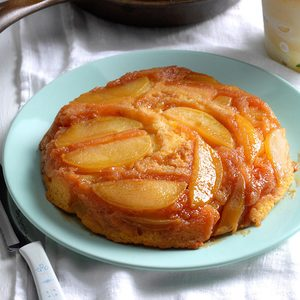 Upside-Down Apple Cake with Butterscotch Topping