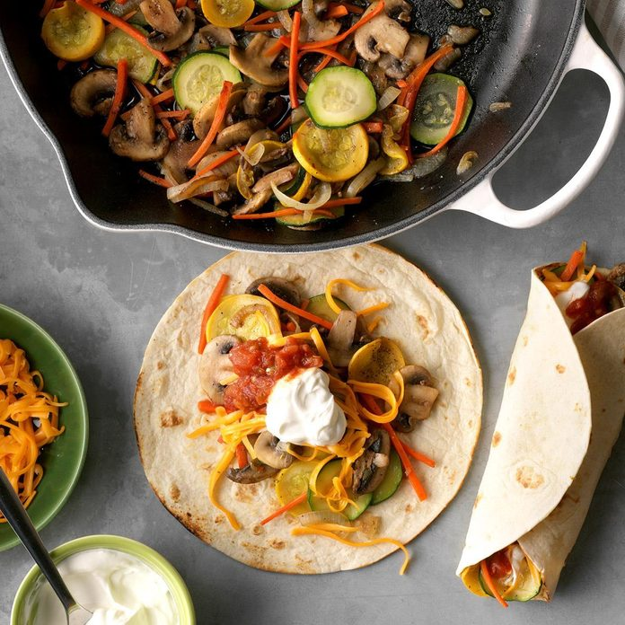 January: Veggie Fajitas