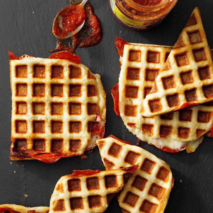 Waffle-Iron Pizzas