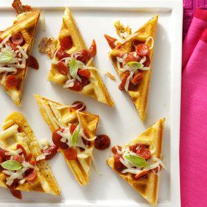 Waffled Pizza Bites