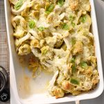 Warm Chicken Tortellini Au Gratin