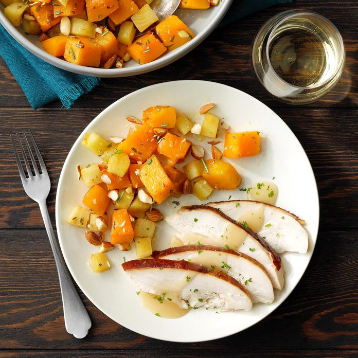 Winter Squash with Maple Glaze