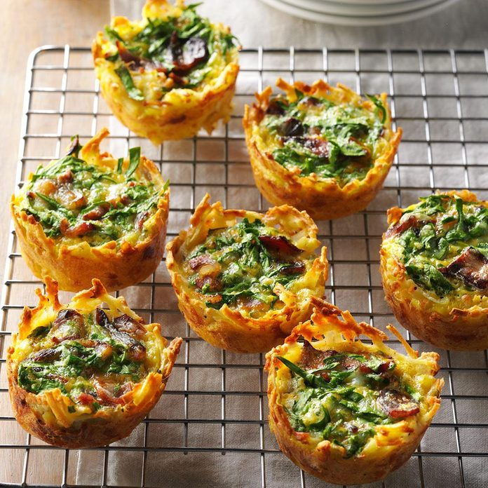 Hash Brown Quiche Cups