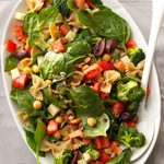 Bow Tie & Spinach Salad
