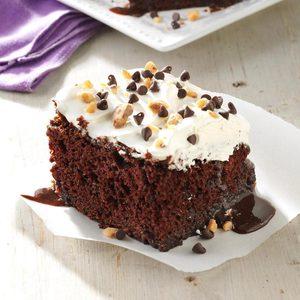 Caramel-Fudge Chocolate Cake
